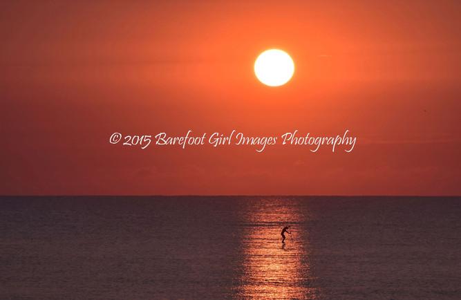 Paddleboarding at Dawn Horizontal crop B