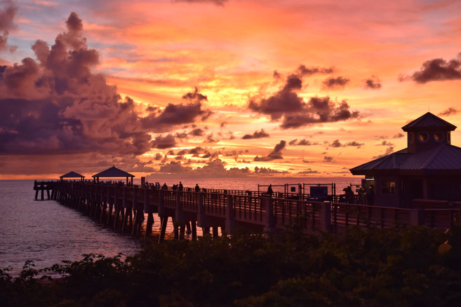 Beach Pier at Stunning Sunrise 18902.jpg