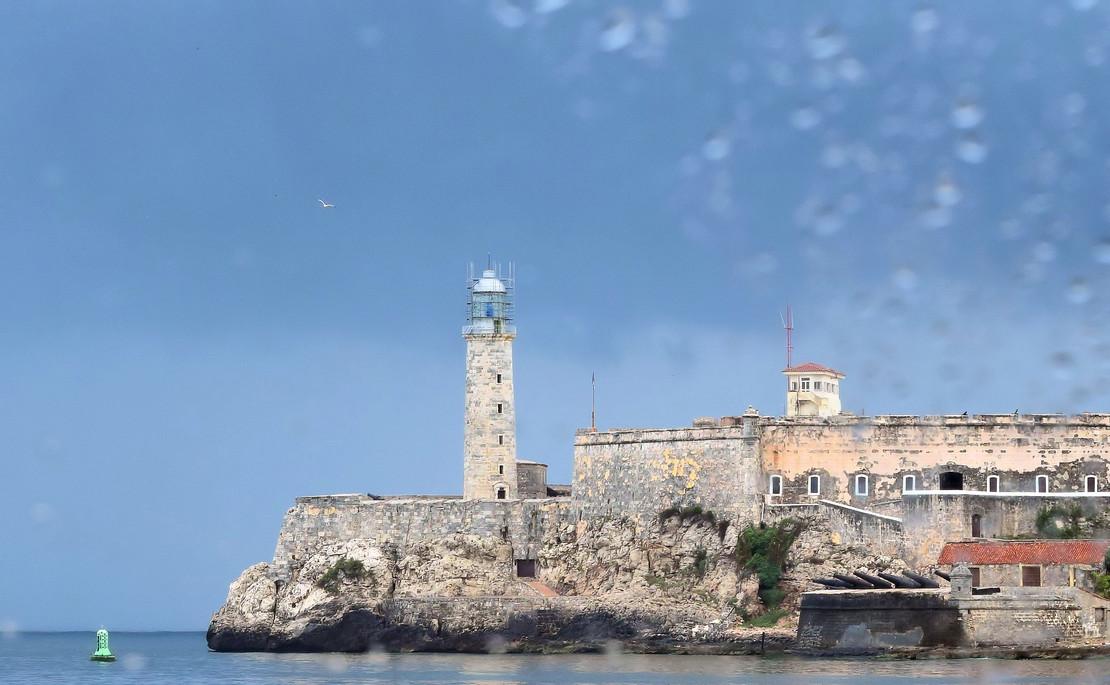 Cuban Monument through wet window 51155.