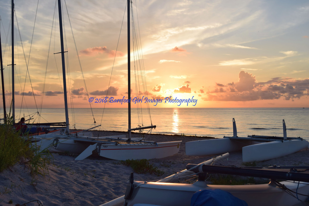 Delray Sailboats with Paddleboarder 5429