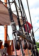 Wooden Ship Block sand Tackle 13921.jpg