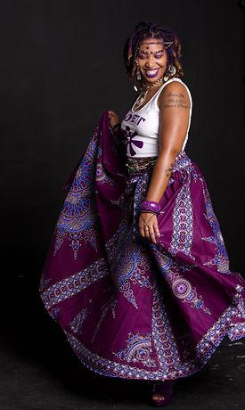 Jaiye Empress - Purple Skirt (Photo captured by Ashleen Senexant of Scope Media)