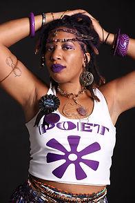 Jaiye Empress - Purple Poetess (Photo captured by Ashleen Senexant of Scope Media)