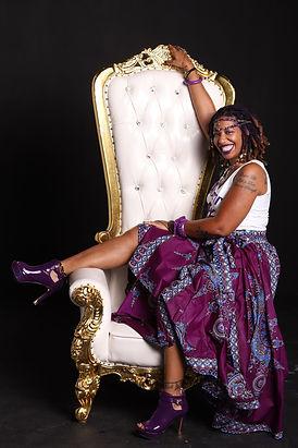 Jaiye Empress on throne (Photo captured by Ashleen Senexant of Scope Media)