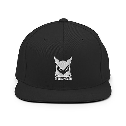 Genius Picaso   Night-Owl Logo Snapback Hat