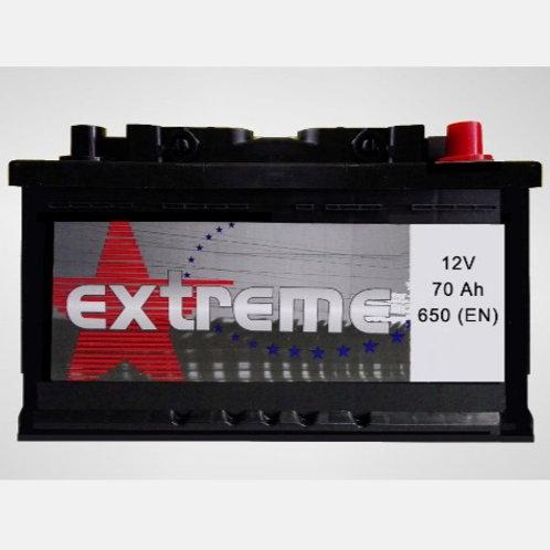 Batería de coche EXTREM 70Ah+D 650EN 12V