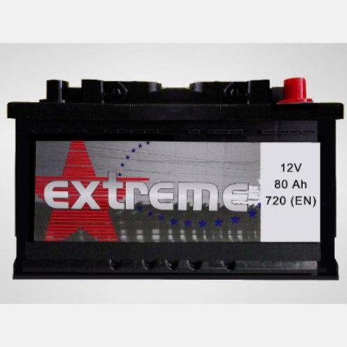 Batería de coche EXTREM 80Ah+D 720EN 12V