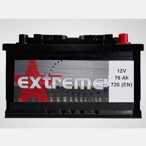 Batería de coche EXTREM 76Ah+D 720EN 12V