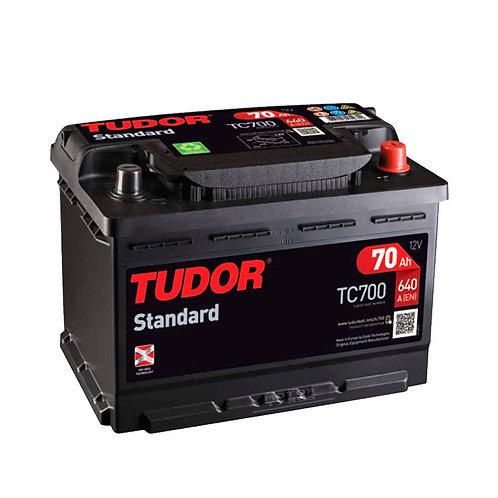 Batería de coche TUDOR 70Ah+D 640EN 12V
