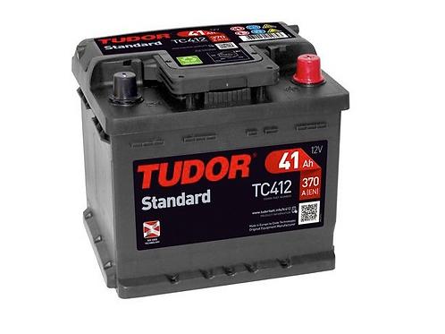 Batería de coche TUDOR 41Ah+D 370EN 12V