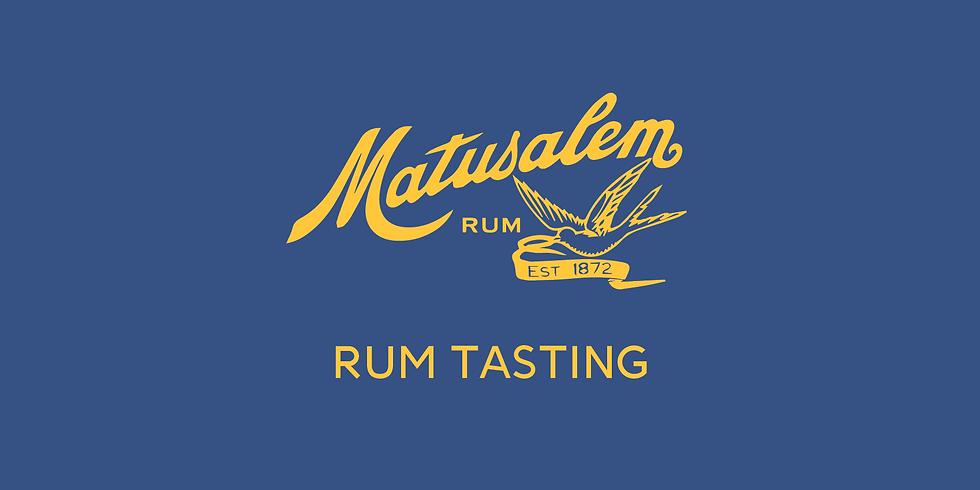 Matusalem Rum Tasting