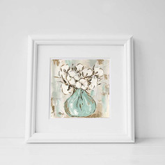 cotton abstract framed