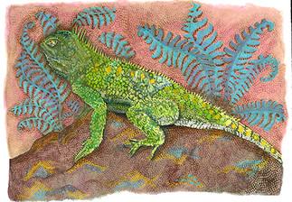 Surface (Reptile Series - Iguana)
