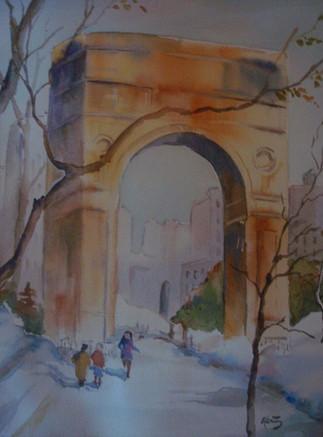 Winter in Washington Square Park (K99)