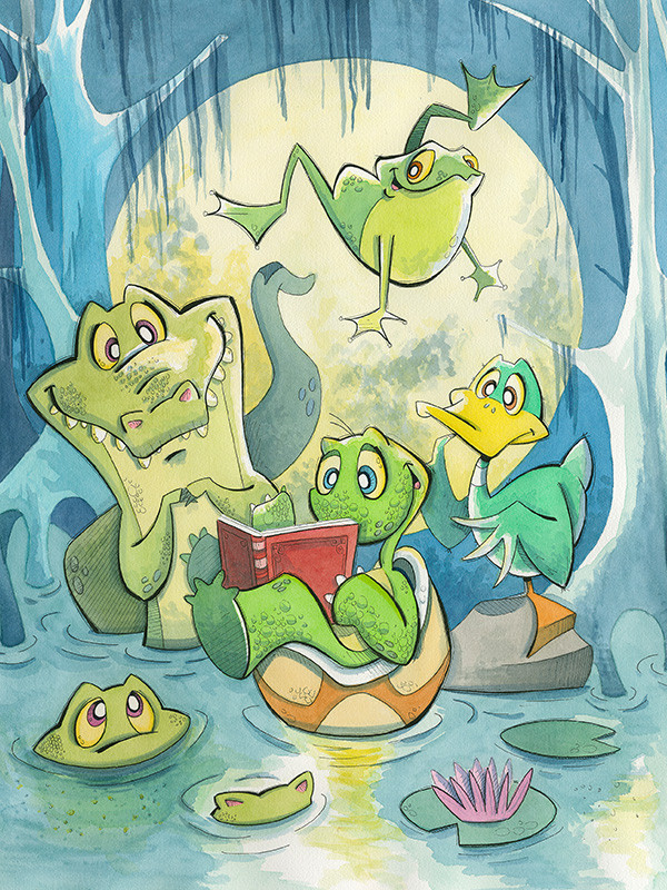 Swamp Stories (turtle, frog, duck, croco