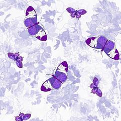 Butterflies with Purple Flowers FC-2r