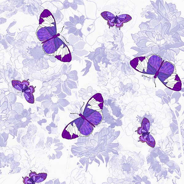 Butterflies with Purple Flowers FC-2r
