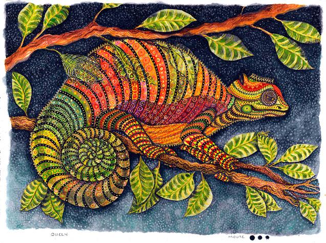 Queen (Reptile Series - Chameleon)