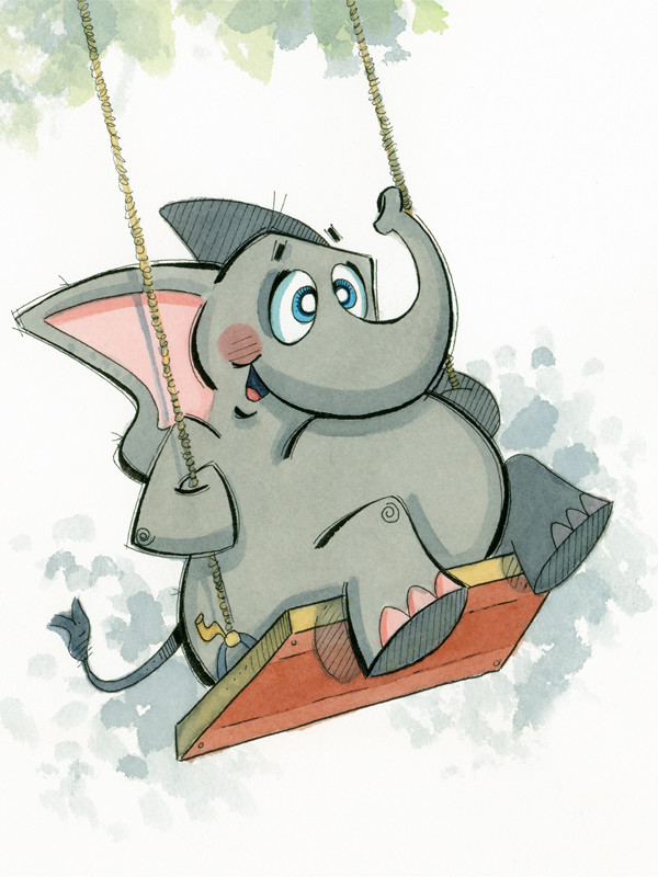 Swinging Elephant (Jungle Collection)