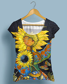 Nancy Moore's paintings are perfect for classy tees.  License this beautiful image at Suzan Lind Art Licensing.