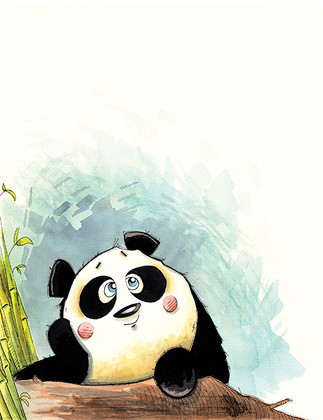 Daydreaming Panda  (Jungle Collection)