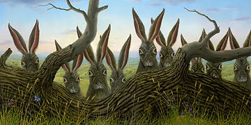 License Bissell's rabbit paintings at Suzan Lind Art Licensing.