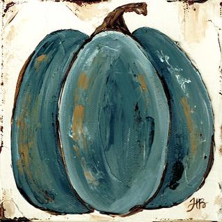 Blue Pumpkin art by Haley Bush