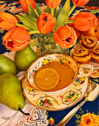 Tea with Orange Tulips.jpg