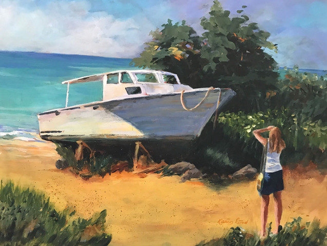Girl and her Old Boat (K44)
