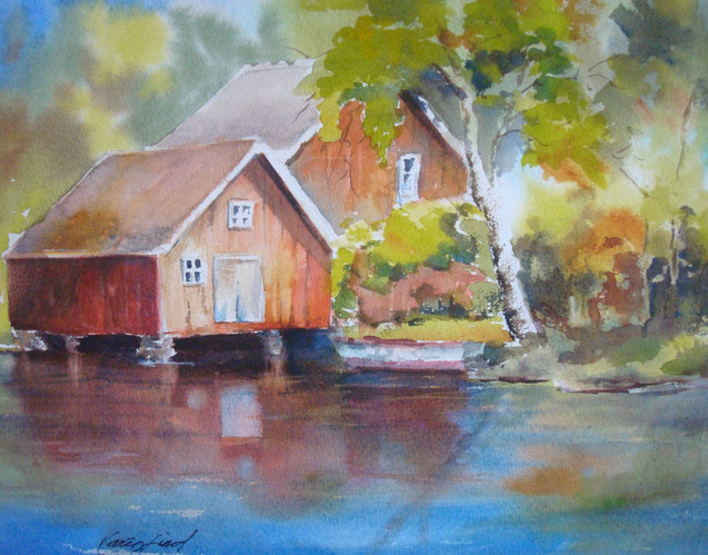 Boathouse in Fall (K51)