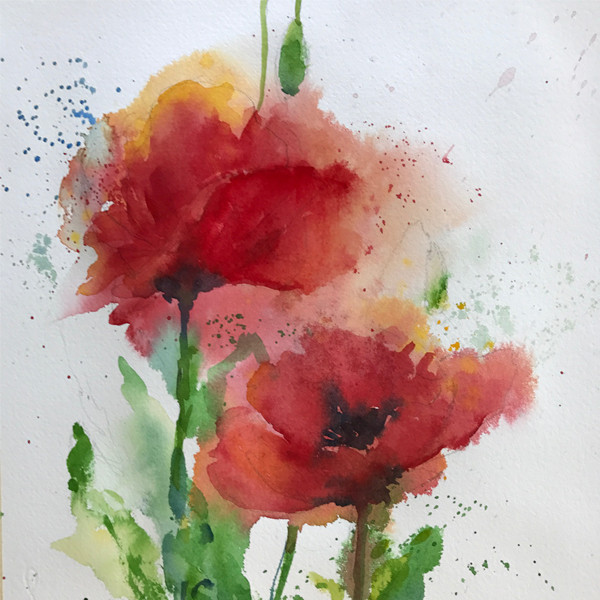 Two Red Poppies (K28)