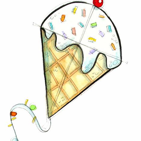 Ice Cream Cone Kite