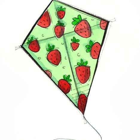 Strawberries Kite