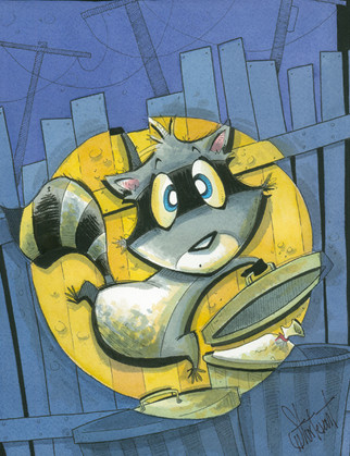 Caught (Racoon)
