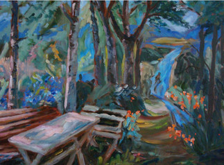 Picnic Table in the Woods (K55)