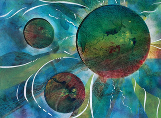 Abstract Circles, Blue_Green (K111)