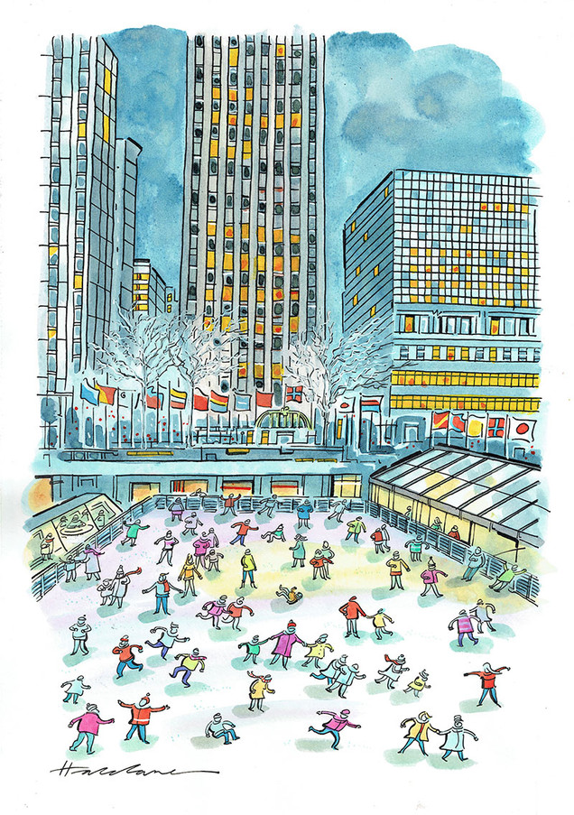 skating at the Rockefeller Centre2305201