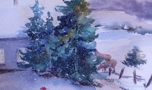 Winter Scene at Home (K93)