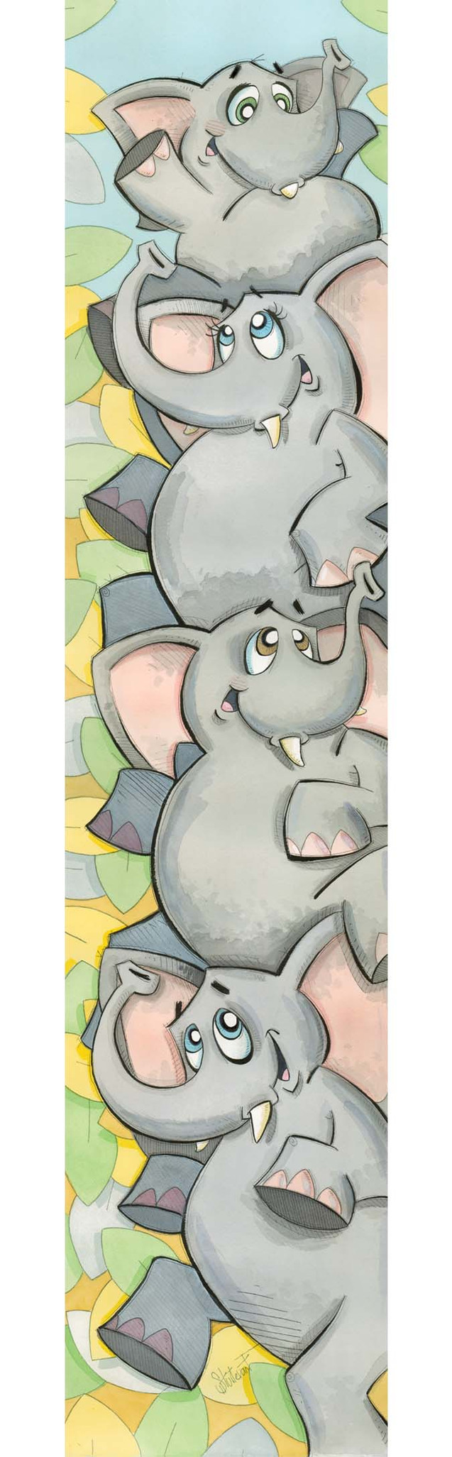 Elephants Piled High