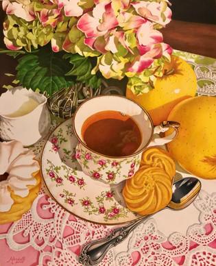 Tea with Apples and Hydrangea.jpg