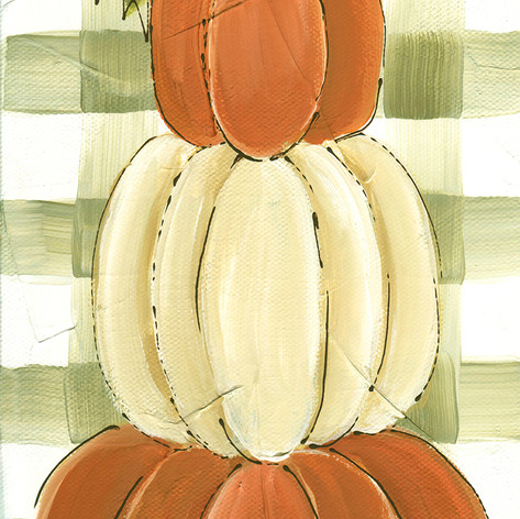 pumpkin stack on green gingham_6x12.jpg