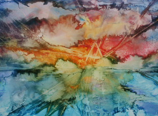 Abstract Watercolor Clouds (K113)