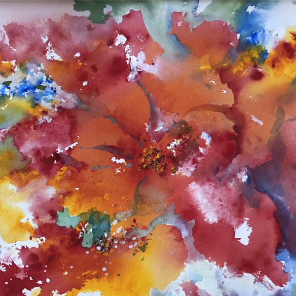 Abstract Red_Orange Flower (K26)