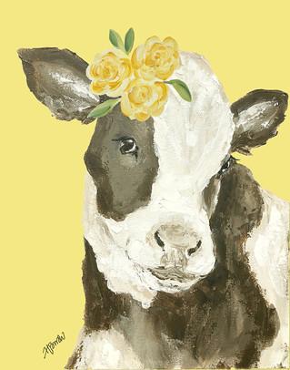 holstein cow yellow flowers yellowbg.jpg