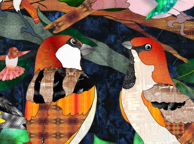Bird Medley 3-  Sparrows Detail