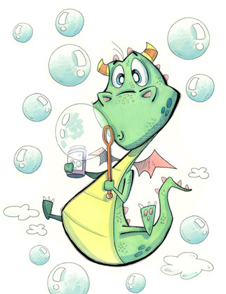 Dragon with Bubbles