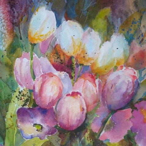 Pretty Pink Tulips (K54)