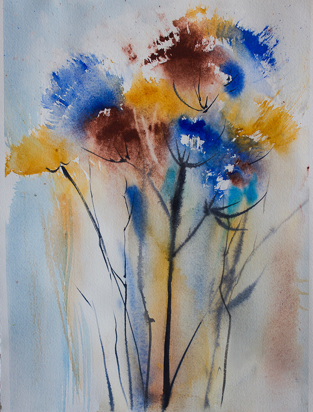 Blues - Abstract Flowers