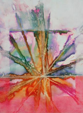 Abstract Watercolor Burst (K115)