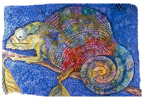 Self Portrait (Reptile Series - Chameleo